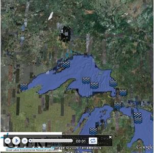 Google Earth snapshot Great Lakes