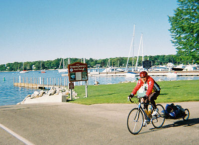 Layne Cameron biking at Harbor Springs