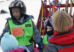 kids at ski area