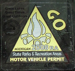Michigan state park sticker