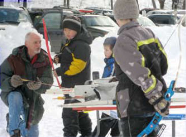 kids learning winter skills